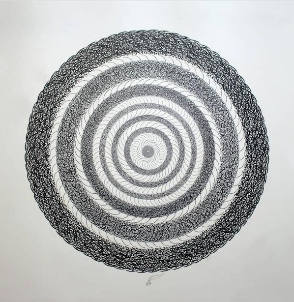 Shamseh, Mixed media on canvas, 130x130 cm