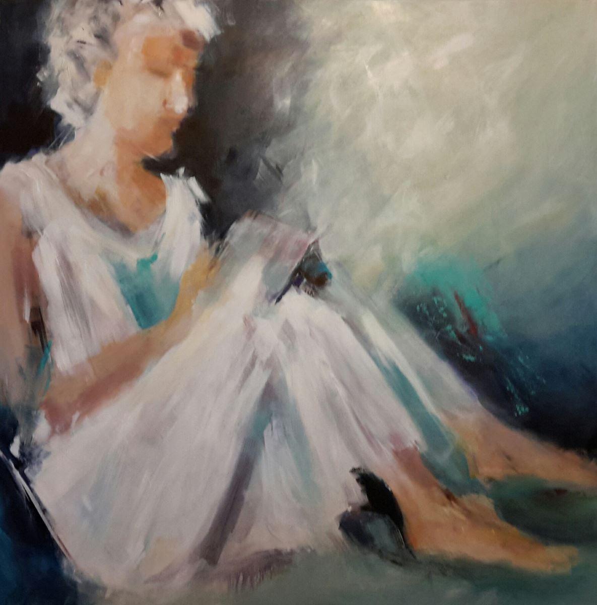 Soheila Haghighat, acrylic on canvas, 100x100 cm