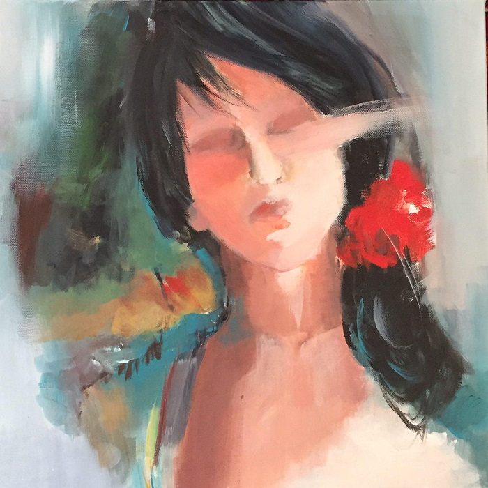 Soheila Haghighat, 40 * 40 cm