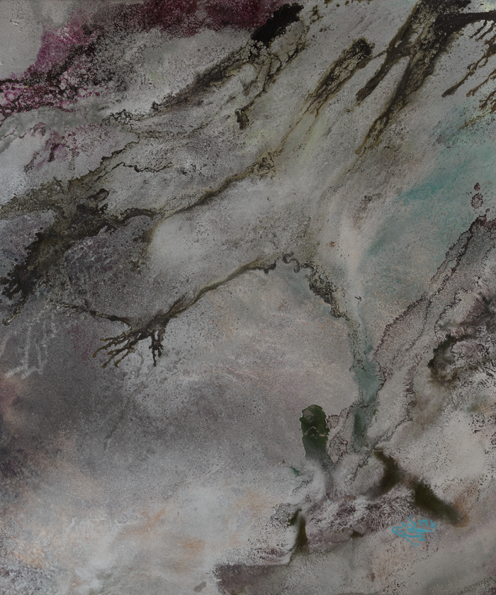 mix media on canvas , 90 * 75 cm