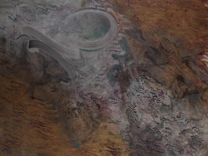 mix media on canvas , 90 * 120 cm