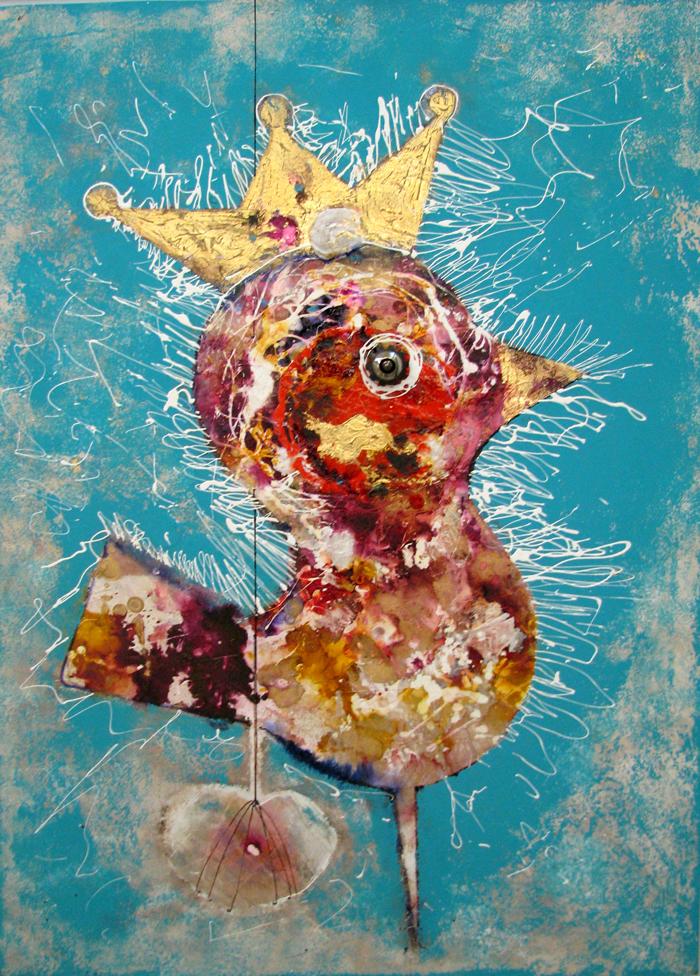 acrylic on canvas, 100*70 cm