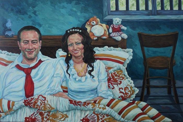 Oil on canvas , 100 * 150 cm