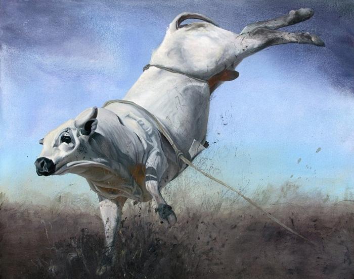 acrylic & oil on canvas, 80*100 cm