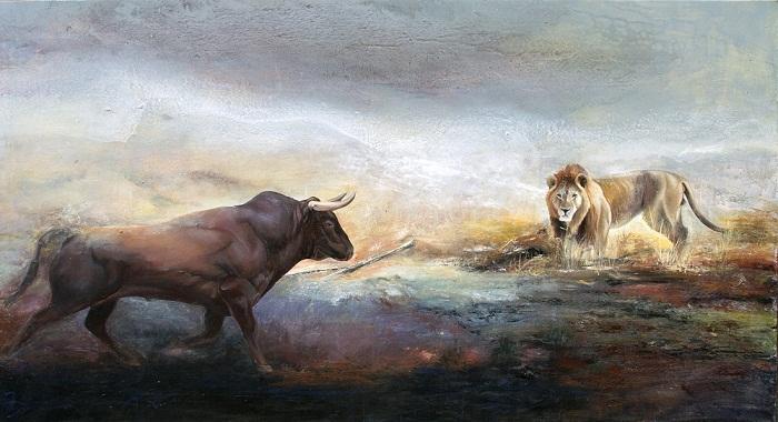 acrylic & oil on canvas, 150*80 cm