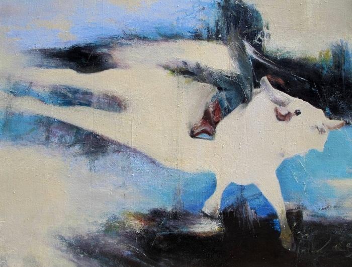 acrylic & oil on canvas, 40*30 cm