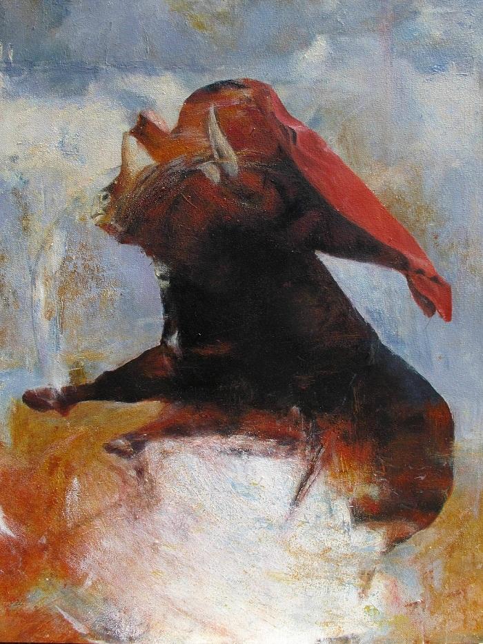 acrylic & oil on canvas, 100*80 cm