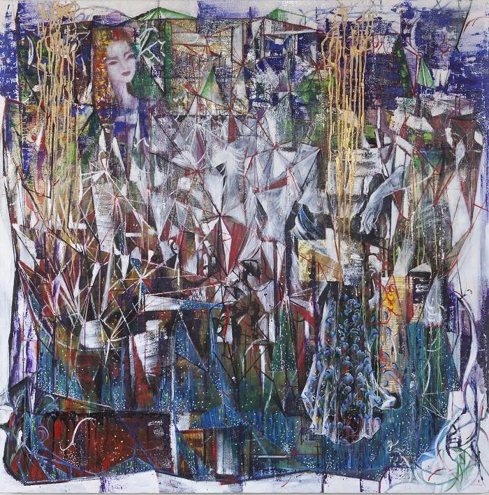 oil on canvas, 150*150 cm