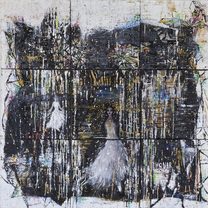 oil on canvas, 120*120 cm