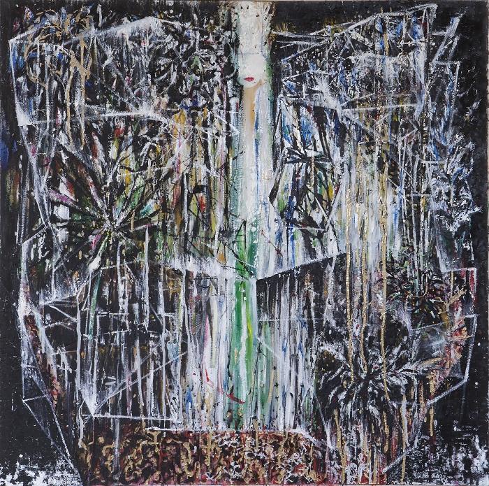 oil on canvas, 100*100 cm