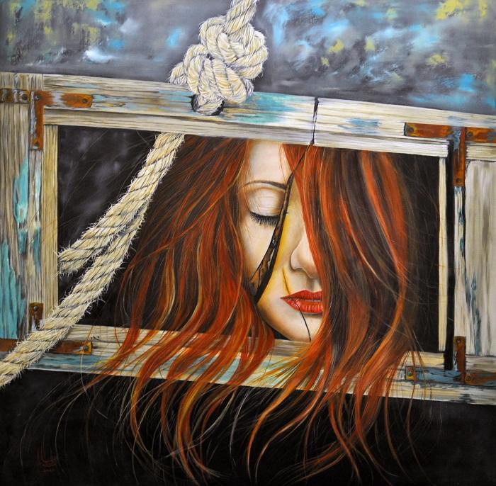 oil on canvas , 100*100 cm