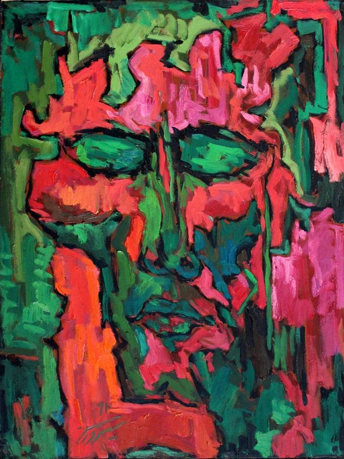 Oil on canvas , 80 * 60 cm
