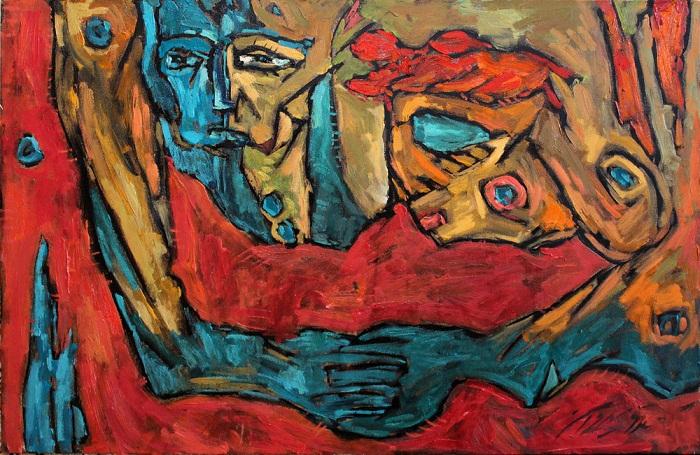 Oil on canvas , 60 * 90 cm