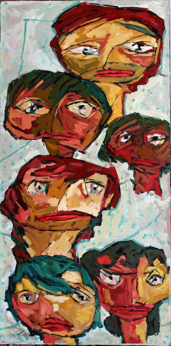 Oil on canvas , 100 * 50 cm