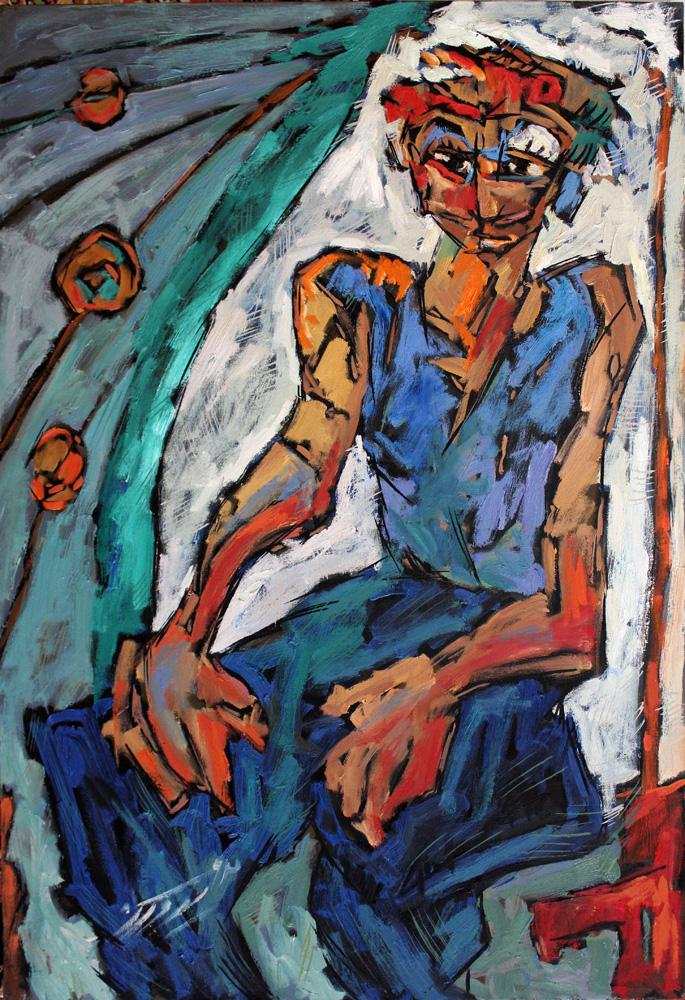 Oil on canvas , 90 * 60 cm